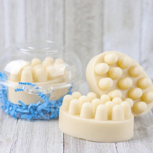 PRZY Silicone Mold Massage Soap Bar 4 Cavities for DIY Making Ellipse Shape Aromatherapy Resin PR378