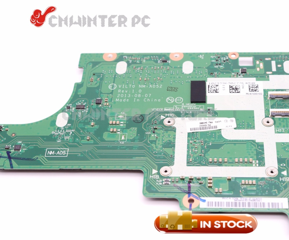 US $229 5 10% OFF|NOKOTION 04X3964 NM A052 MAIN BOARD For Lenovo thinkpad  T440s Laptop Motherboard i7 4600U CPU GMA HD4400 DDR3-in Motherboards from