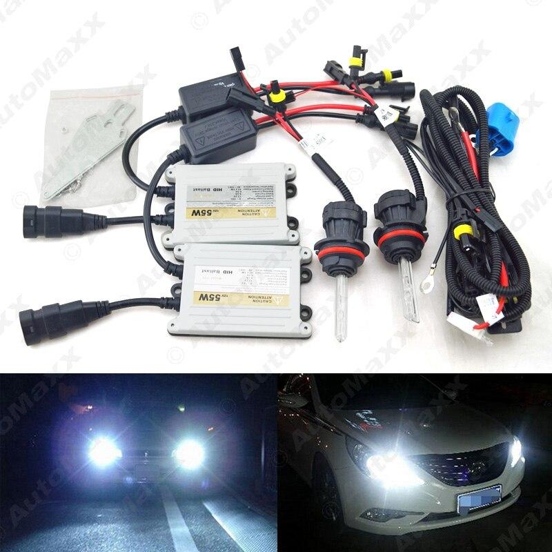 1Set Car Headlight AC 12V 55W 9004/9007 Xenon Bulb Hi/Lo Beam Bi-Xenon Bulb Light Slim Ballast HID Kit #J-4480  car headlight hid xenon kit slim ballast 12v 35w dc h4 3 9004 3 9007 hi lo 9012 5012 h13 bi xenon hi lo