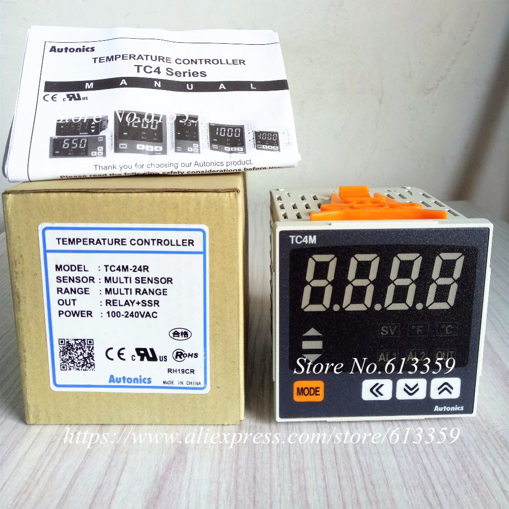 TC4M 24R Autonics Temperature Controller W72 x H72 Single display 4 Digit PID Control Relay SSR