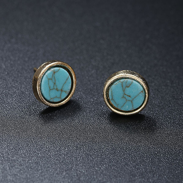 Stone Geometric Earrings  6