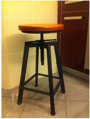 Genial Vintage French Industrial Design Wrought Iron Chair Bar Stool Rotating Lift