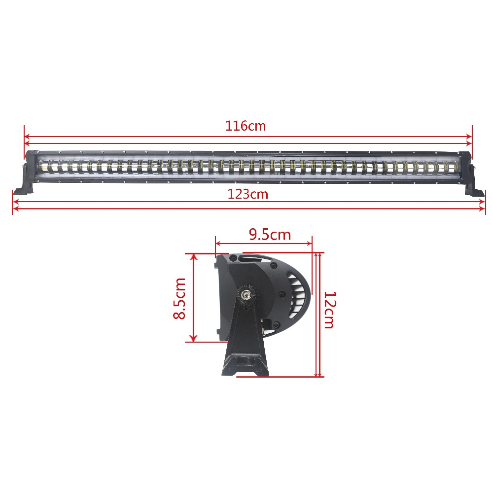 46 inch 210W LED Light Bar with controller Wire for Work Driving Fog lights with Halo Ring DRL Boat Truck 4x4 SUV ATV Off Road 96w 9000lm off road led light bar spot flood beam combo for toyota bmw jeep cabin boat suv truck car atv fog lights