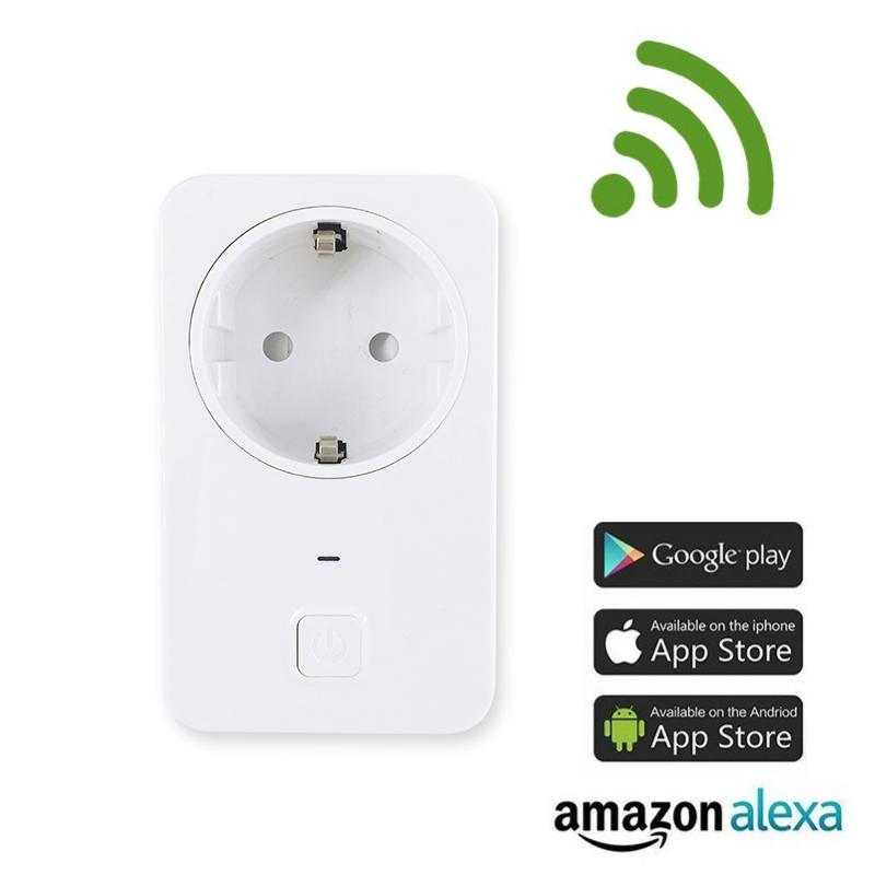 Universal WIFI Power Smart Plug Switch Socket EU Wireless Smart Outlet Intelligent Control Timer Plug for Smart Home Automation-in Remote Controls from Consumer Electronics