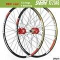 KOOZER XF2046 MTB горный велосипед набор колес 26/27. 5/29 дюймов 72 кольца 4 подшипника QR Thru-axis колеса обод велосипеда