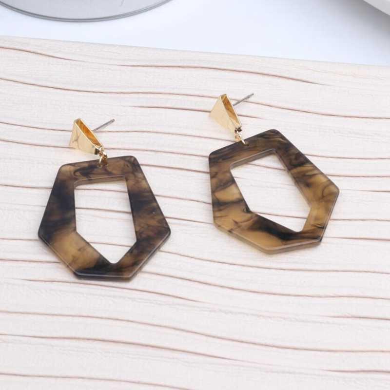 2019 nuevos Pendientes de acrílico para Mujer Pendientes geométricos coreanos Moda Mujer Moda cuadrada joyería de oreja Brincos