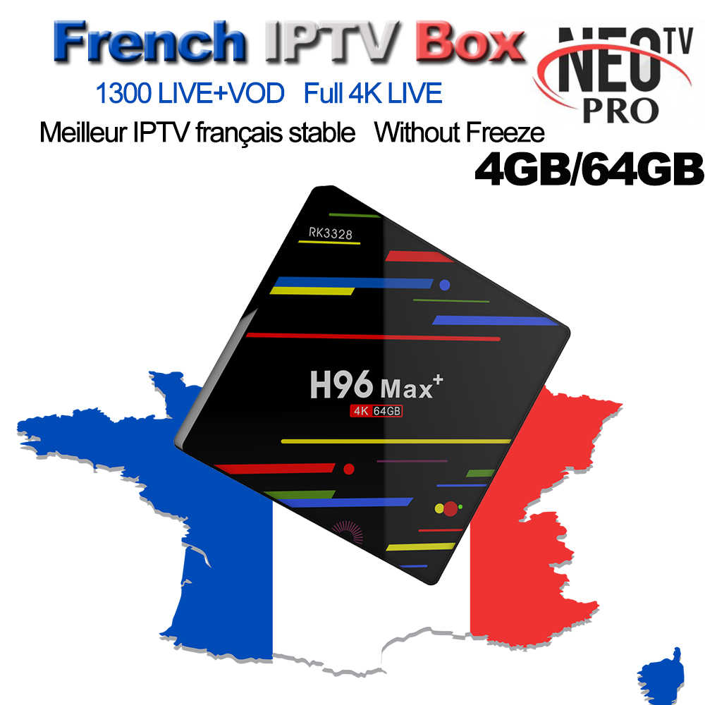 1 Year Neotv Pro IPTV Abonnement 1300+ Arabic French Turkey Dutch LiveTV For H96 Max+ Android 8.1 TV Box 4G 64G Set Top Box