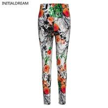 New 2017 Flower Printed Legging Fashion Slim Women leggings  High Elastic Cotton soft stretch pants female winter jeans leggins