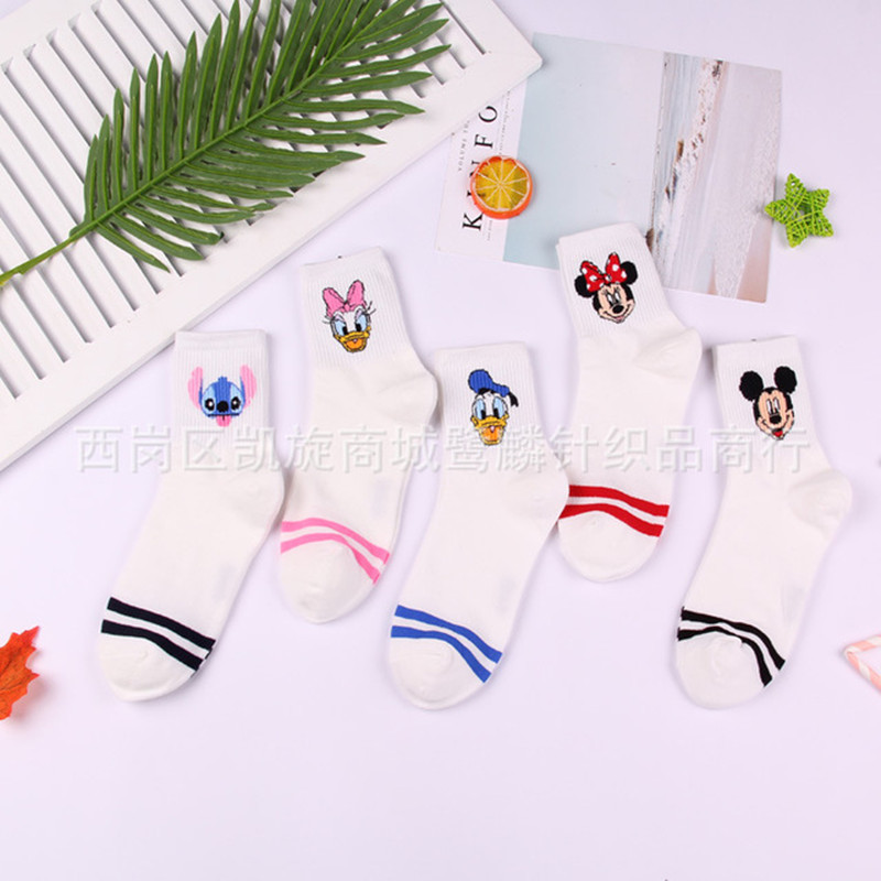 Cartoon animal Clownfish pattern   sock   mouse duck women cotton   socks   cute fun personalized happy comfortable Calcetines de mujer