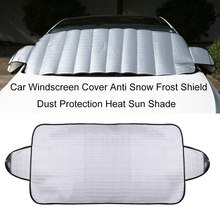 Практичный автомобильный чехол на лобовое стекло, защита от снега, мороза, защита от пыли, тепло, солнцезащитный козырек, идеально подходит для лобового стекла автомобиля