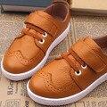 Британский Стиль Натуральная Кожа Мальчиков Повседневная Обувь 2017 Роскошные Дети Кожаные Ботинки Скольжения на Мальчиков Мокасины Обувь Детская Кожаная Обувь