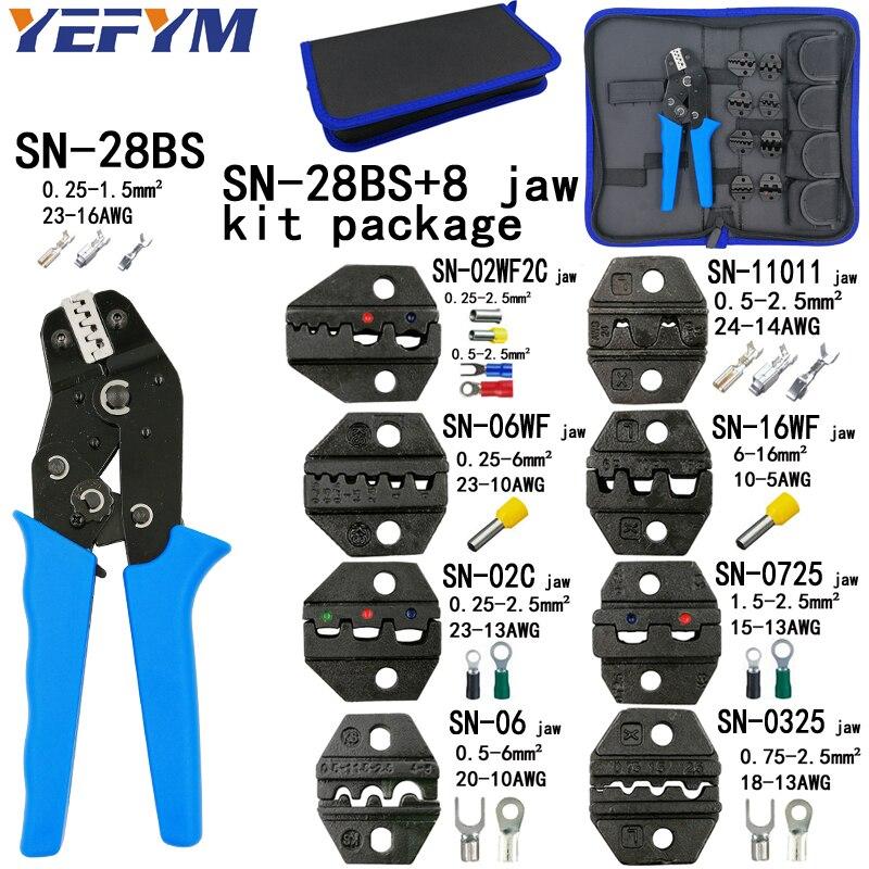 Zangen Crimpen Zangen Sn-28bs 8 Kiefer Kit Paket Für 2,8 4,8 6,3 Vh2.54 3,96 2510/rohr/insuated Terminals Elektrische Klemme Werkzeuge