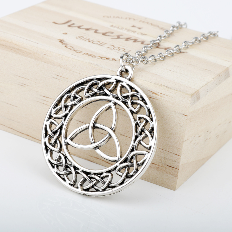 HEYu Outlander Vintage keltski čvor križ Triskele Trinity škotski - Modni nakit - Foto 4