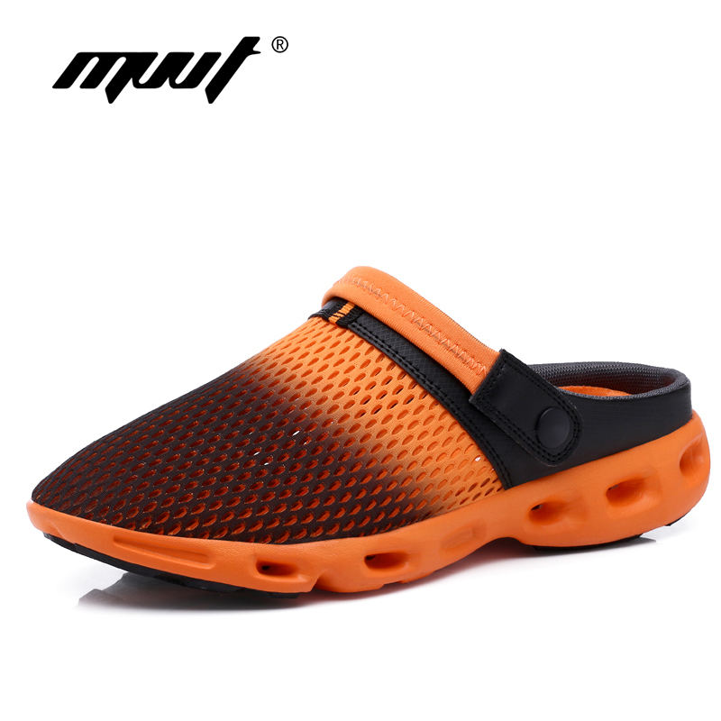 2018 Super light summer shoes breathable men sandals soft mesh casual shoes comfort fashion men flats outdoor beach sandals summer sandals women leather breathable mesh outdoor super light flats shoes all match casual shoes aa40140
