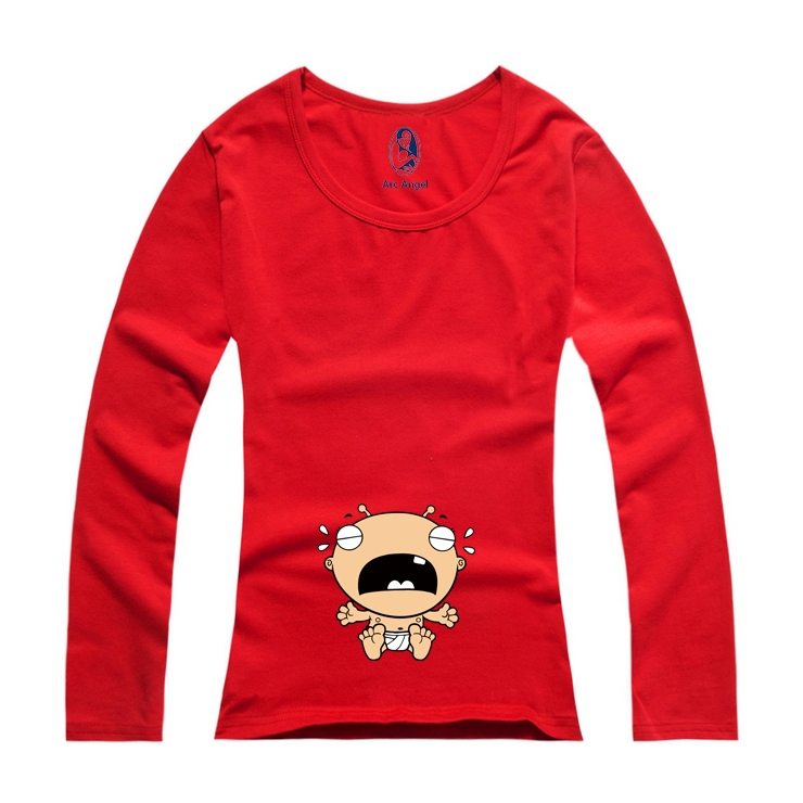 """""""Baby Crying"""" New Design Printed Funny and Cute Long sleeves Casual Maternity Shirt Clothes for Pregnant Women plus New-6"""