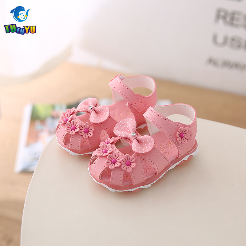 TUTUYU Girls LED Sandals Girls Fashion Flats Sandals Kids Summer Lovely Shoes Mini Melissa Elastic Single Shoes