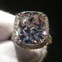 Кольца для Для женщин серебро 925 Уникальный обручальное кольцо Дизайн Принцесса Cut Обручение кольцо преувеличены кольцо