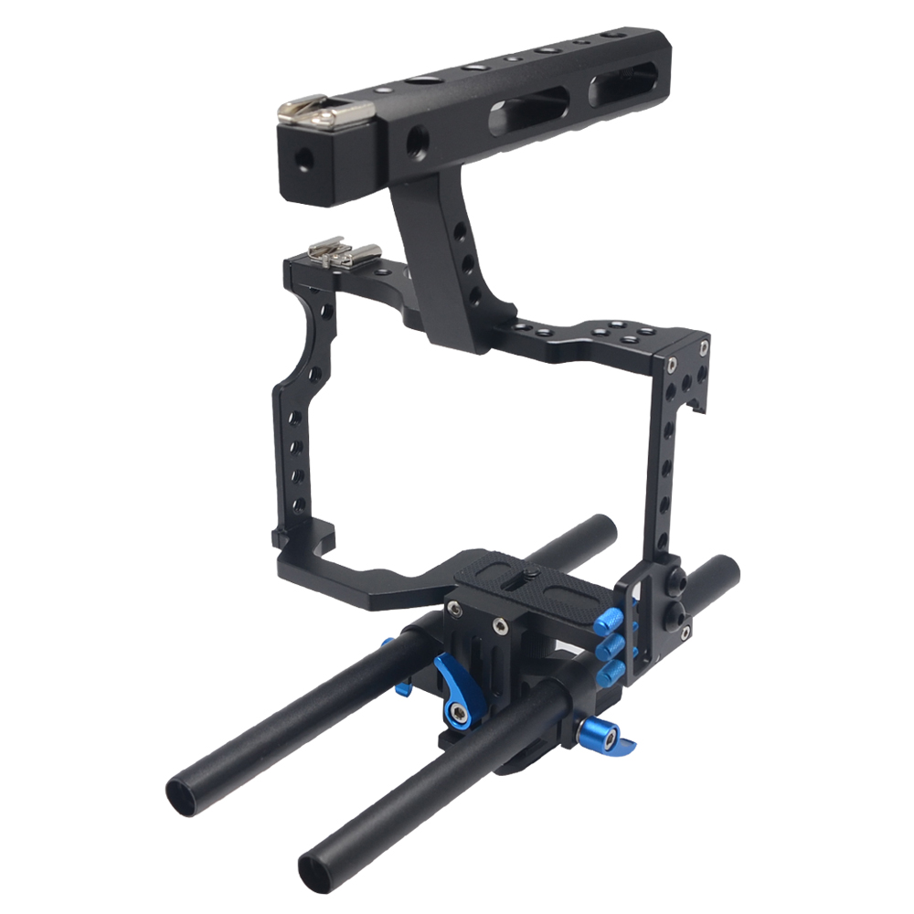 Mcoplus Aluminum Alloy DSLR Camera Video Camera Video Cage Handle Stabilizert for GH4 A7S