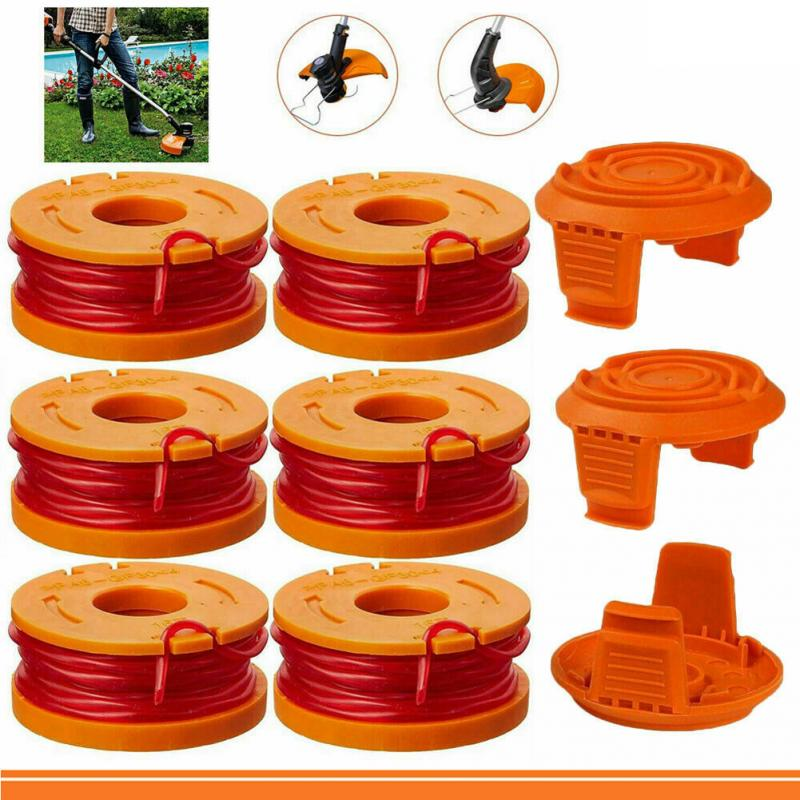 Grass Line Rope Parts Strong Toughness Cap Cover Wire Replacement String Trimmer Durable Outdoor Coil Spool Set For WORX WA0010