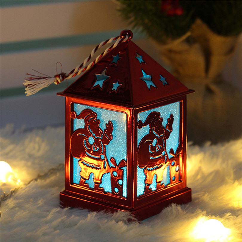 Christmas Decorations For Home LED Light Dolls House Villa Xmas Ornaments Hanging Christmas Tree Hanging Decor Navidad 40DC605