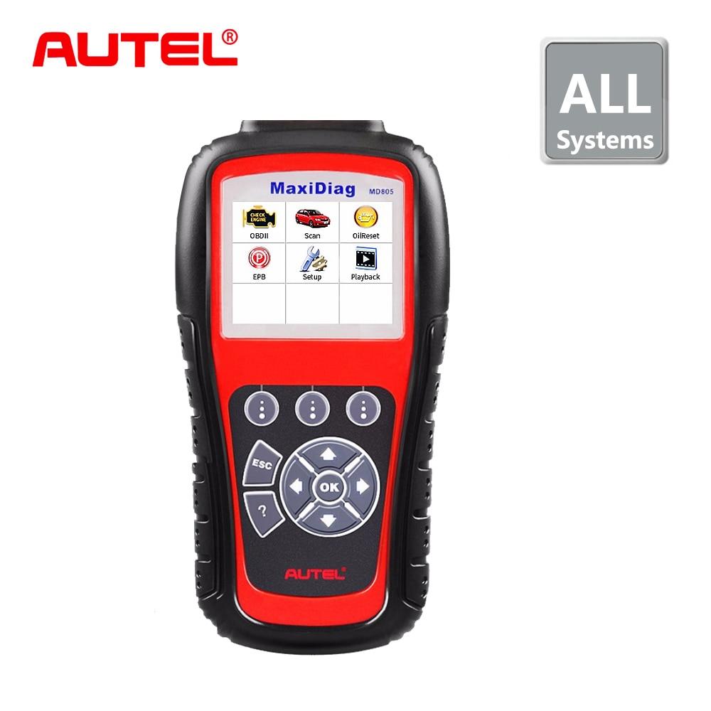 цена на Hot Sale,Autel MaxiDiag MD805 Full System OBD2 Scanner OBDII Diagnostic Tool Code Reader Scaner better than Autel MD802