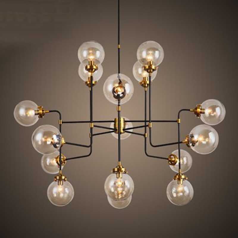 Nordic Retro Metal Living Room Pendant Lamp Glass Ball Shade Industrial Loft Light Cafe Lamp Restaurant Light Free Shipping loft style vintage pendant lamp iron industrial retro pendant lamps restaurant bar counter hanging chandeliers cafe room
