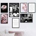Одри Хепберн пионы и камелии сливы Отправить предложение стены книги по искусству холст картины плакаты и принты настенные панно для Декор в гостиную - фото