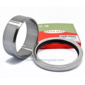 Atlas Copco GX7 1616 6575 80 Repair Kit Screw Air Compressor Spare Parts PTFE Oil Seal & Shaft Sleeve 2pcs a kit(China)