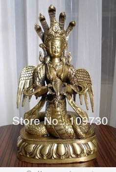 free shipping 00767 Tibetan bronze Sagara-nagaraja buddha statue statue
