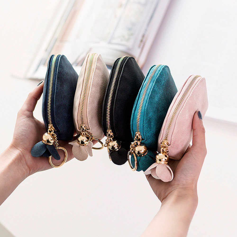 Women Naivety PU Leather Zip Coin Purse Clutch Handbag Wallet Multifunctional Solid Wallets ID Card Small Items Holder 10Jun 25