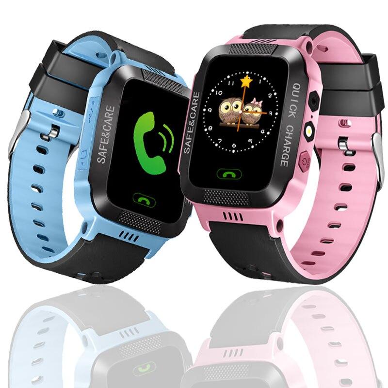 Reloj inteligente para niños a salvo LBS SOS Cámara SIM llamada bebé reloj de pulsera reloj de alarma impermeable para niños GPS PK DZ09 GT08 A1
