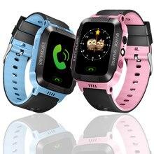 스마트 안전 시계 어린이 LBS 추적 위치 찾기 SOS SIM 전화 베이비 손목 시계 알람 시계 어린이 GPS를위한 방수 선물