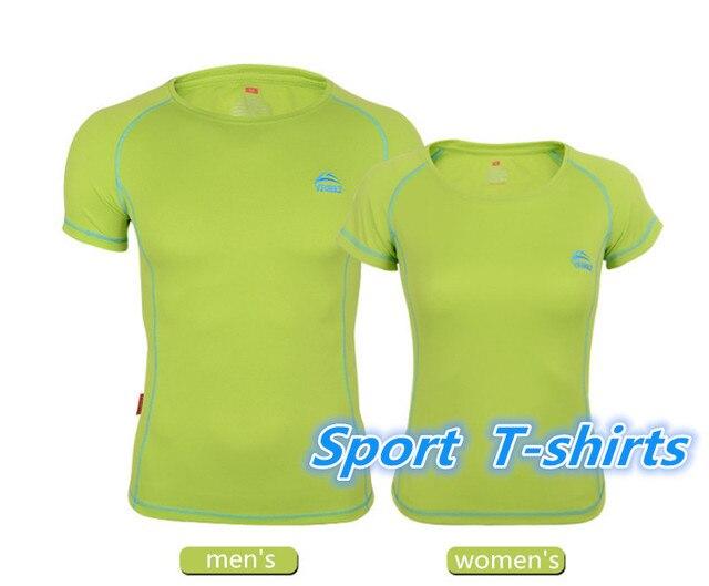 0c187a3284d7 New Outdoor Men Women Running T-Shirts Quick Dry Summer style Run Cycling Sport  Shirt Running Shirts Tops Tees Size S-3XL
