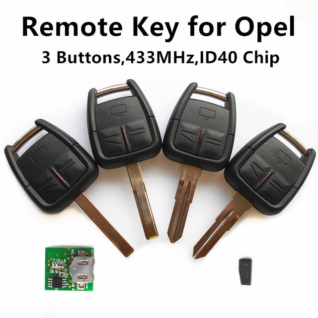 Car Remote Key for VAUXHALL OPEL  Astra Zafira Vectra Omega Frontera Holden Keyless Entry Fob 3 Buttons 433MHz ID40 Chhip