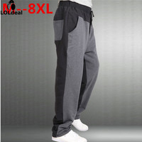 Loldeal Plus size 9XL 8XL 7XL 6XL 5XL 2018 Casual Pants Male Trousers Straight Summer Thin Health Pants Male Slim Trousers