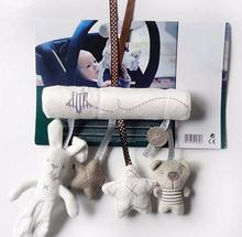 Cute Music Plush Activity Crib Stroller Baby Soft Toys Hanging Rabbit Star Shape Toy For Kids  YH-001