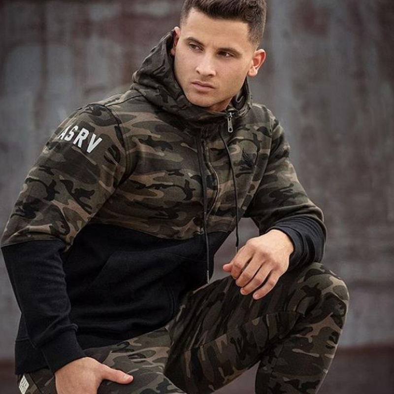 2018 männer Casual Hosen Camouflage Print Baumwolle Hosen Kordelzug - Herrenbekleidung - Foto 3