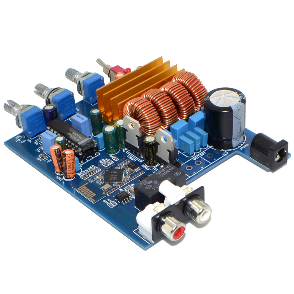 TPA3116 LM1036 Bluetooth 2 0 Class D 2 Channel Amplifier Board 50W 50W with Treble Bass Adjustment Free Shipping 12003199 in Amplifier from Consumer Electronics