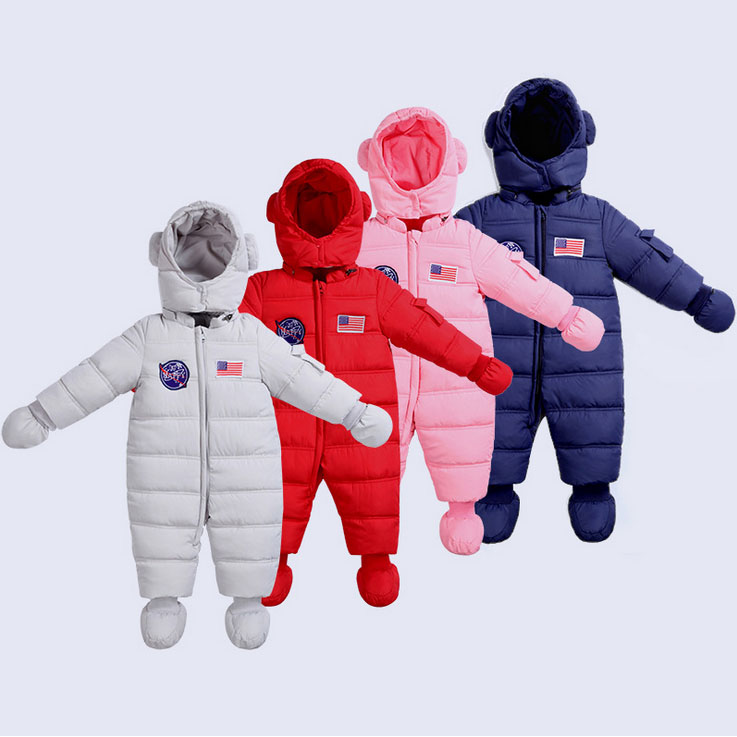 Newborn baby girl boy Rompers Hooded Winter cotton padded infant toddler clothes thickening design jumpsuits bodysuit outwear newborn baby girls rompers cotton padded thick winter clothing set cartoon bear infant climb hooded clothes babies boy jumpsuits