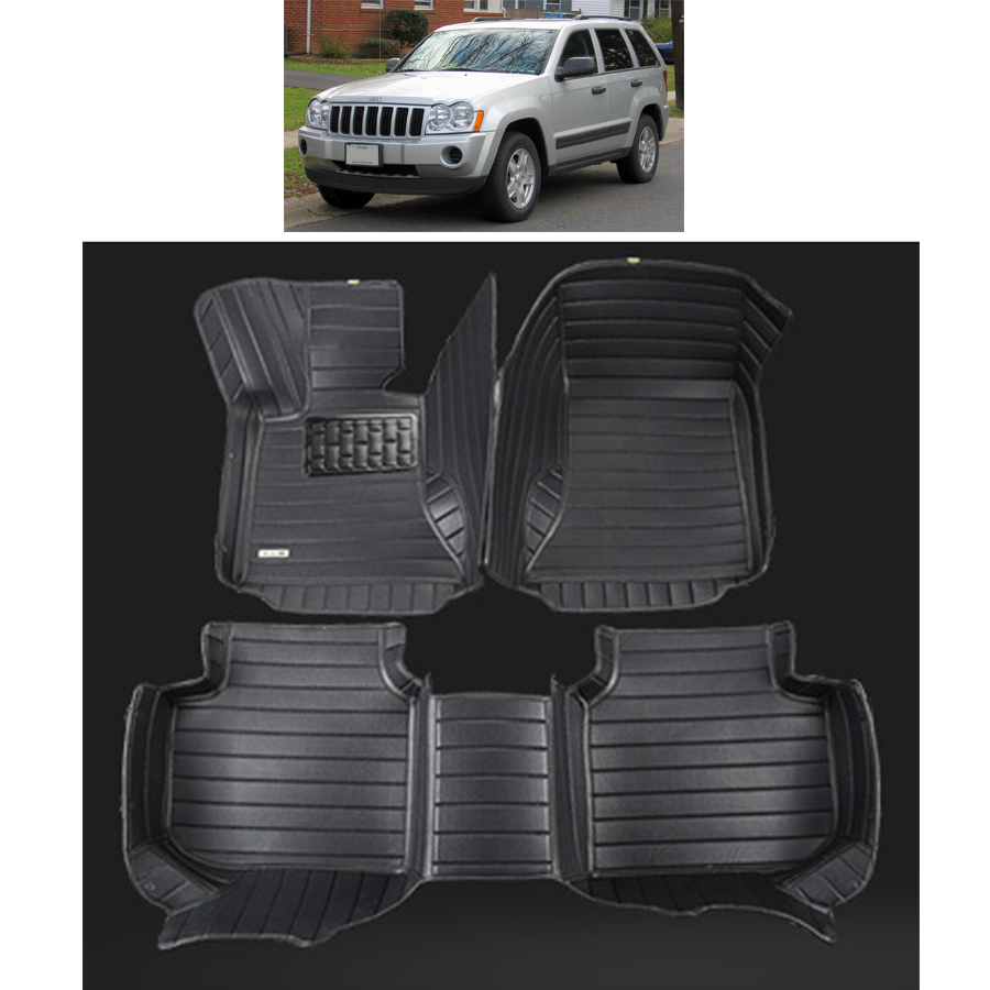 fast shipping fiber leather car floor mat for jeep grand cherokee wk 2005 2006 2007 2008 2009 2010 цены онлайн