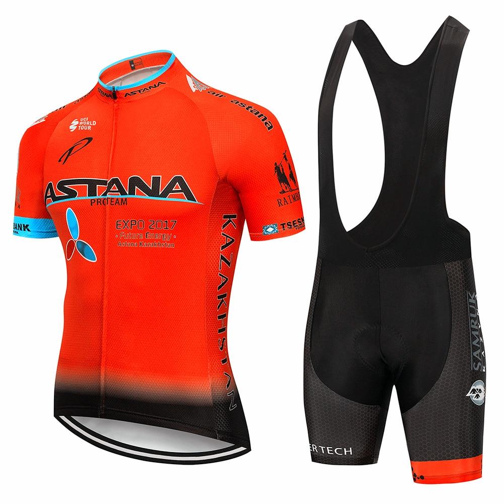 2019 equipe astana conjunto de roupas ciclismo dos homens bicicleta maillot mtb corrida ropa ciclismo verão hombre camisa da bicicleta