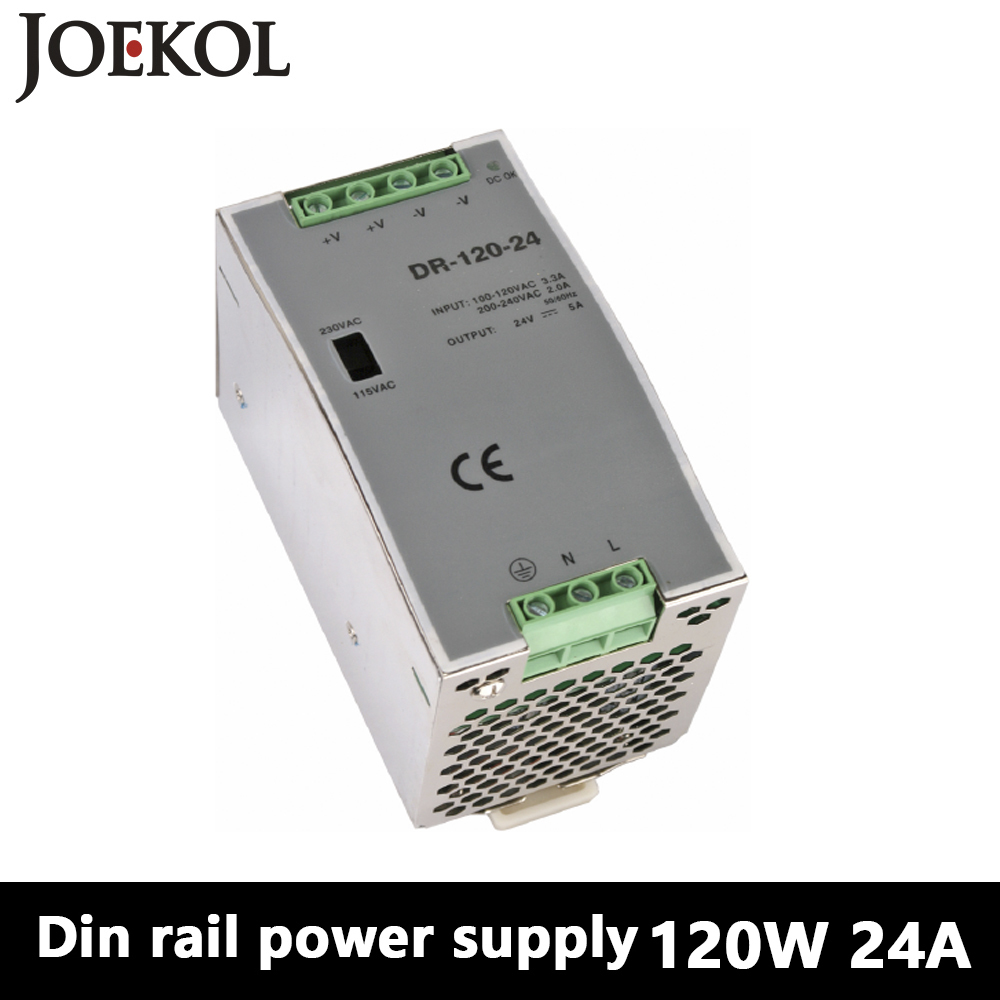 DR-120 Din Rail Power Supply 120W 24V 5A,Switching Power Supply AC 110v/220v Transformer To DC 24v,ac dc converter dr 240 din rail power supply 240w 24v 10a switching power supply ac 110v 220v transformer to dc 24v ac dc converter