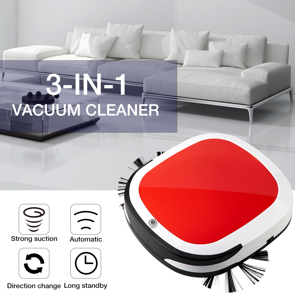 USB Rechargeable Electric Wireless Sweep Robot Automatic Robot Vacuum Cleaner Household Cleaning Mop the Floo-in Vacuum Cleaners from Home Appliances