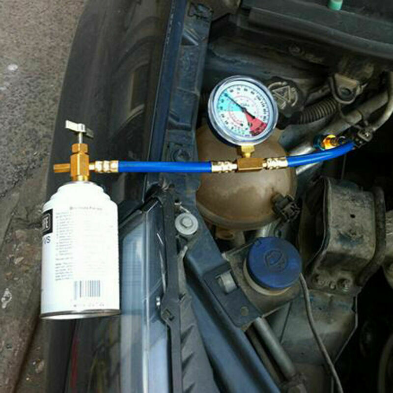 R134A Car Auto A//C Air Condition Add Freon Tube Recharge Hose Can Tap 1//2 Thread