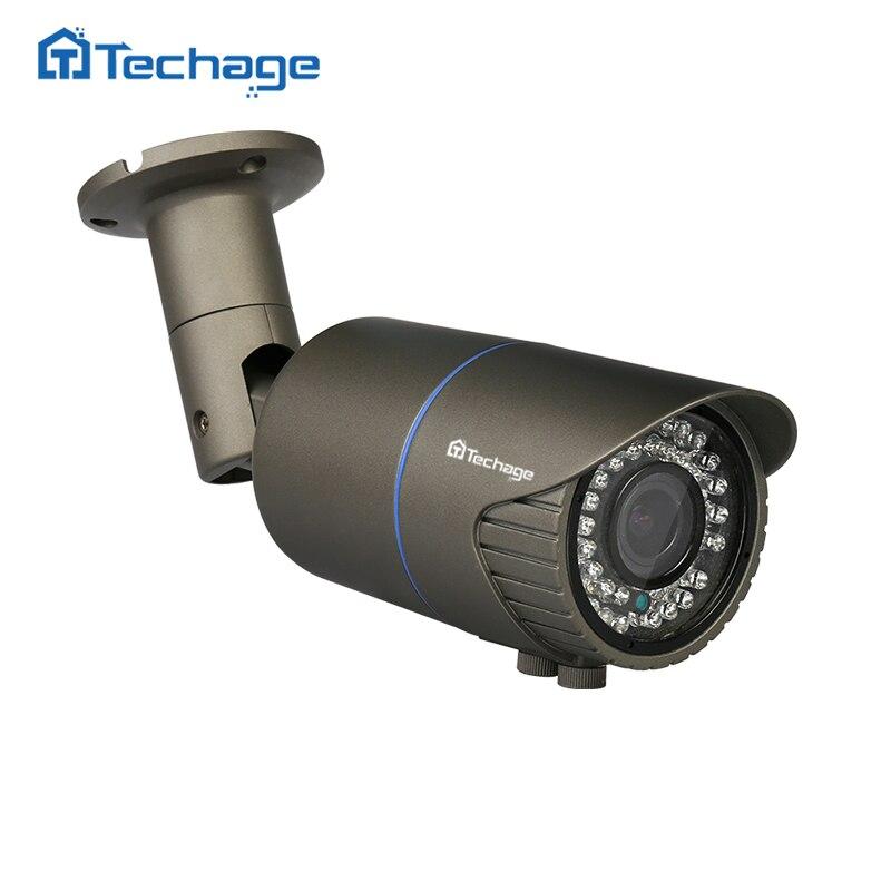 Techage 2 0MP 4 0MP 2 8 12mm Varifocal Lens 48V POE IP Camera Outdoor Waterproof