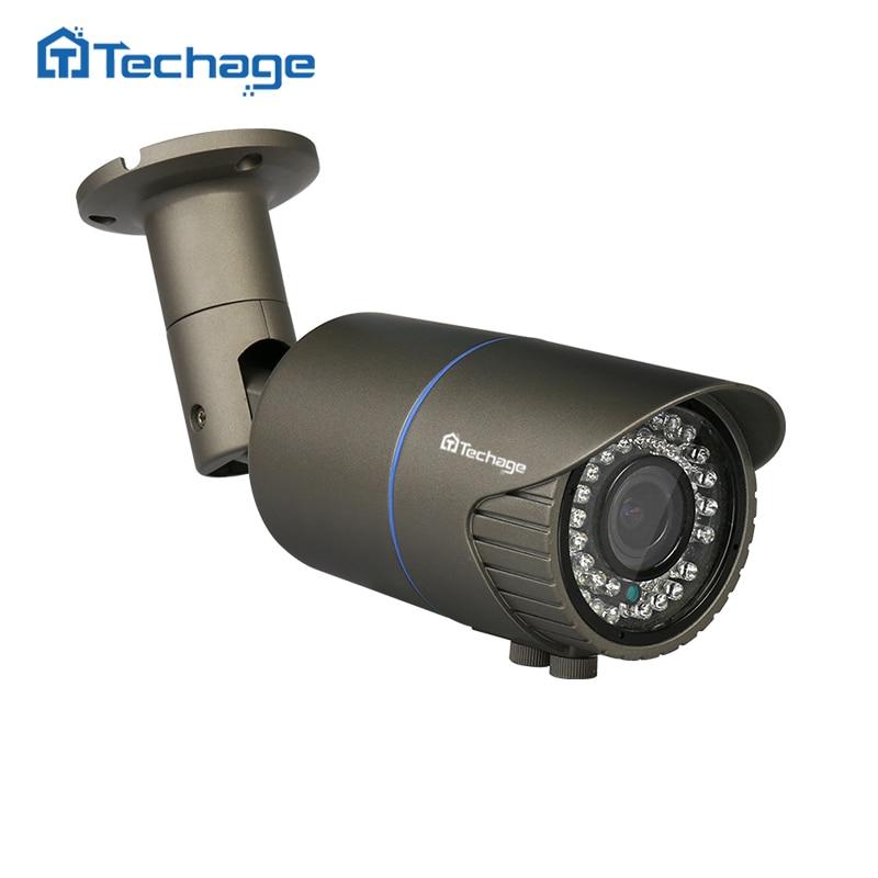 Techage 2.0MP 4.0MP 2.8-12mm P2P 48V POE Lente Varifocal Câmera IP Impermeável Ao Ar Livre ONVIF CCTV Segurança câmera de vigilância