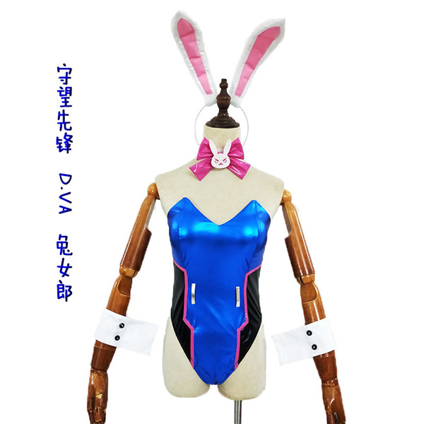 2019 Halloween custom made OW Bunny girl <font><b>DVA</b></font> <font><b>Cosplay</b></font> Costume <font><b>sexy</b></font> <font><b>dva</b></font> Jumpsuit image
