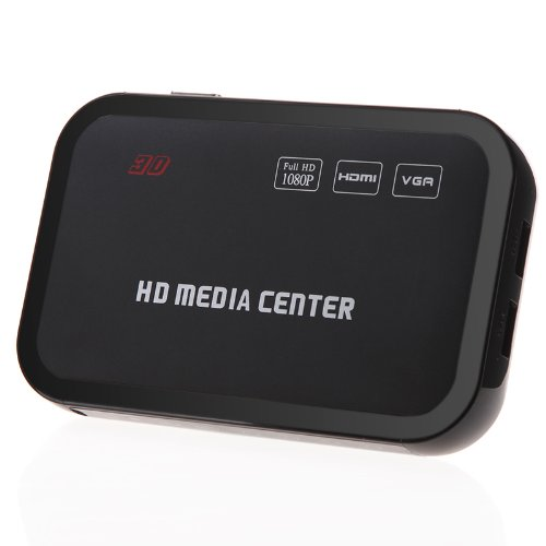 Full HD 1080P Media Player Center RM/RMVB/AVI/MPEG Multi Media Video Player with HDMI YPbPr VGA AV USB SD/MMC Port Remote Cont image