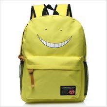 Japan Anime Assassination Classroom Korosensei Emoji Canvas Printing Backpack School Bags for Teenagers