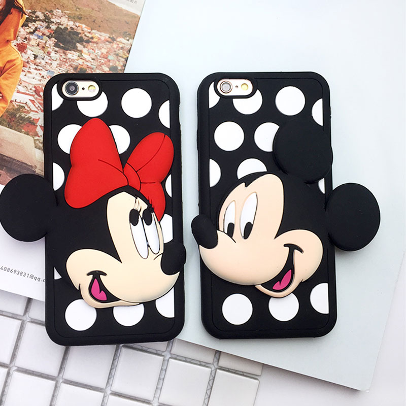Fashion Cheap Girl Cell Phone Cases For iphone 6 6S plus Anti-knock Cute Cartoon Soft Silicone Cover For iphone 7 7plus Coque